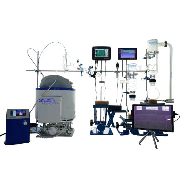 12L Short Path Distillation Setup with Athena and Fraction Finder